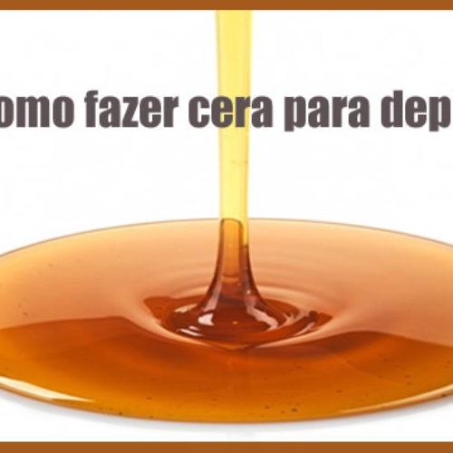 Cera para depilar caseira – Açúcar, limão e água