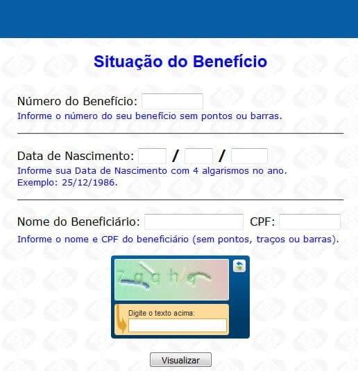situacao do beneficio inss consulta online