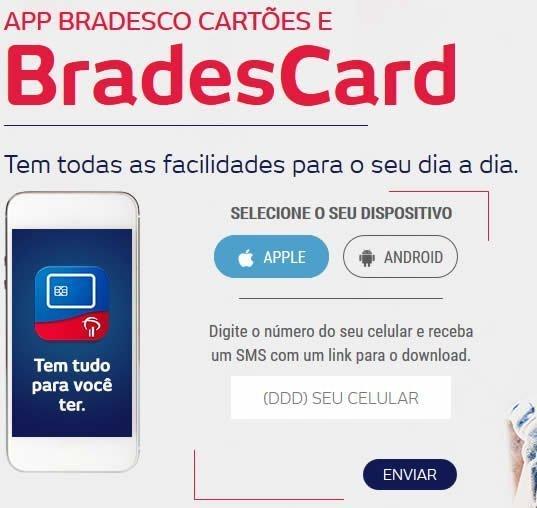 aplicativo celular bradescard cartoes credito