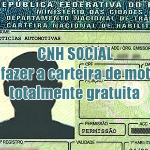 Como fazer a CNH Social gratuita passo a passo
