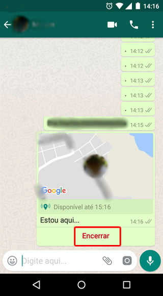 como desativar localizacao tempo real whats video