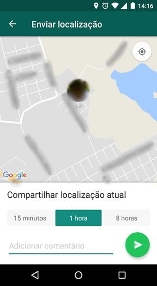como fazer ativar localizacao tempo real whatsapp