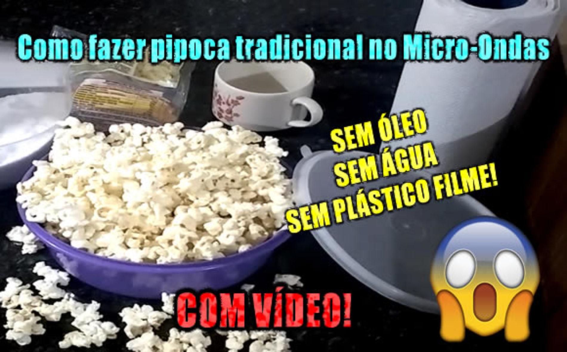Como fazer milho de pipoca sem óleo e sem água no microondas