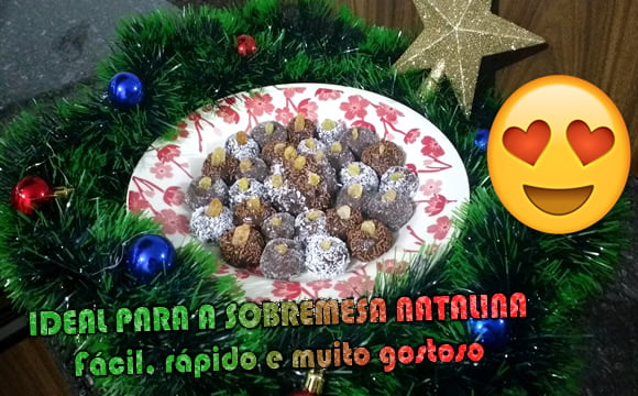 brigadeiro natalino uva passa receita