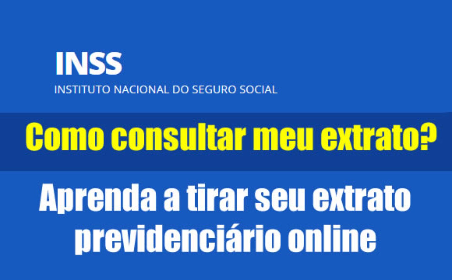 Como ver o extrato previdenciario do INSS online
