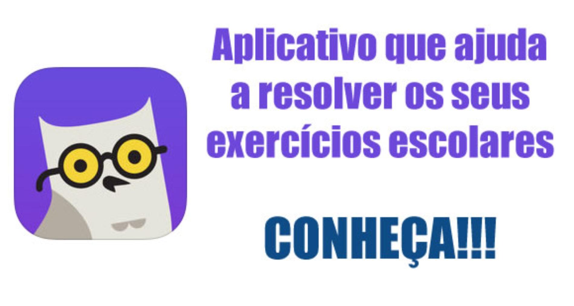 Como fazer os exercícios da escola com um aplicativo de celular