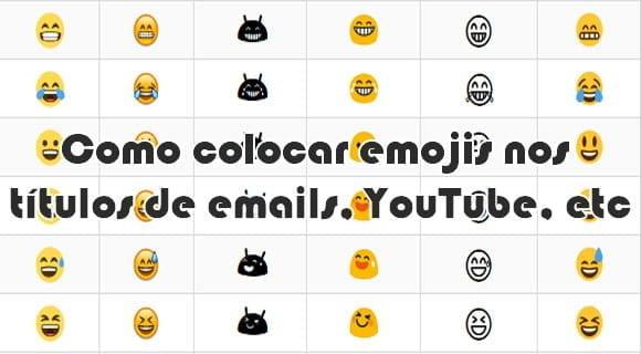 como fazer colocar emojis titulos