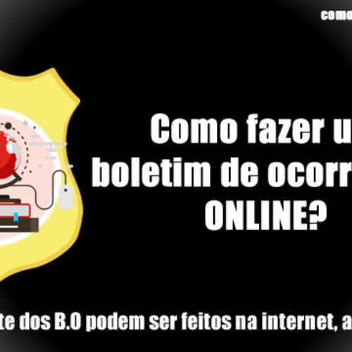 Como fazer o BO online da perca/furto de documentos e outros