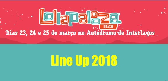lineup programacao lolla br 2018 lollapalooza