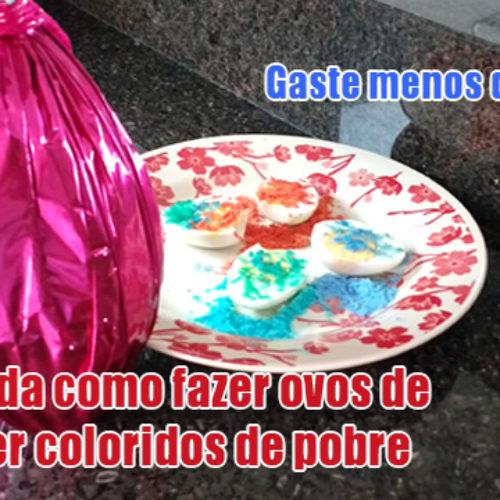 Como fazer ovo colorido de colher de pobre