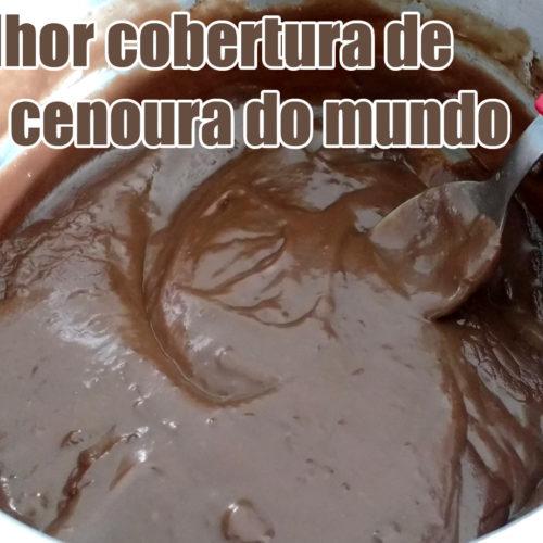Como fazer a melhor cobertura de chocolate para bolo de cenoura