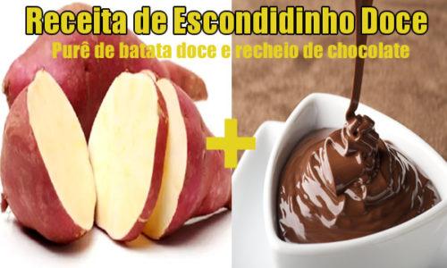 Como fazer escondidinho doce com chocolate e purê de batata doce