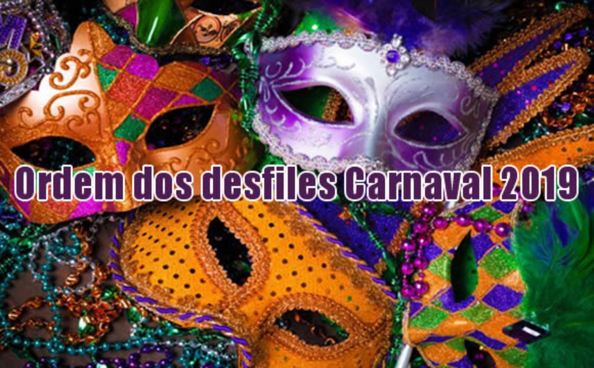 Como será a ordem dos desfiles Carnaval 2019 em São Paulo