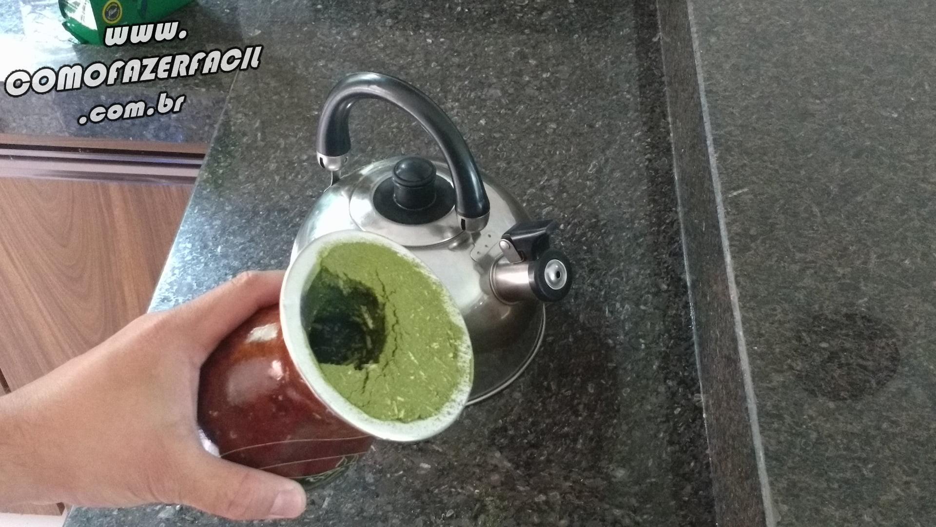 cuia com erva chimarrao