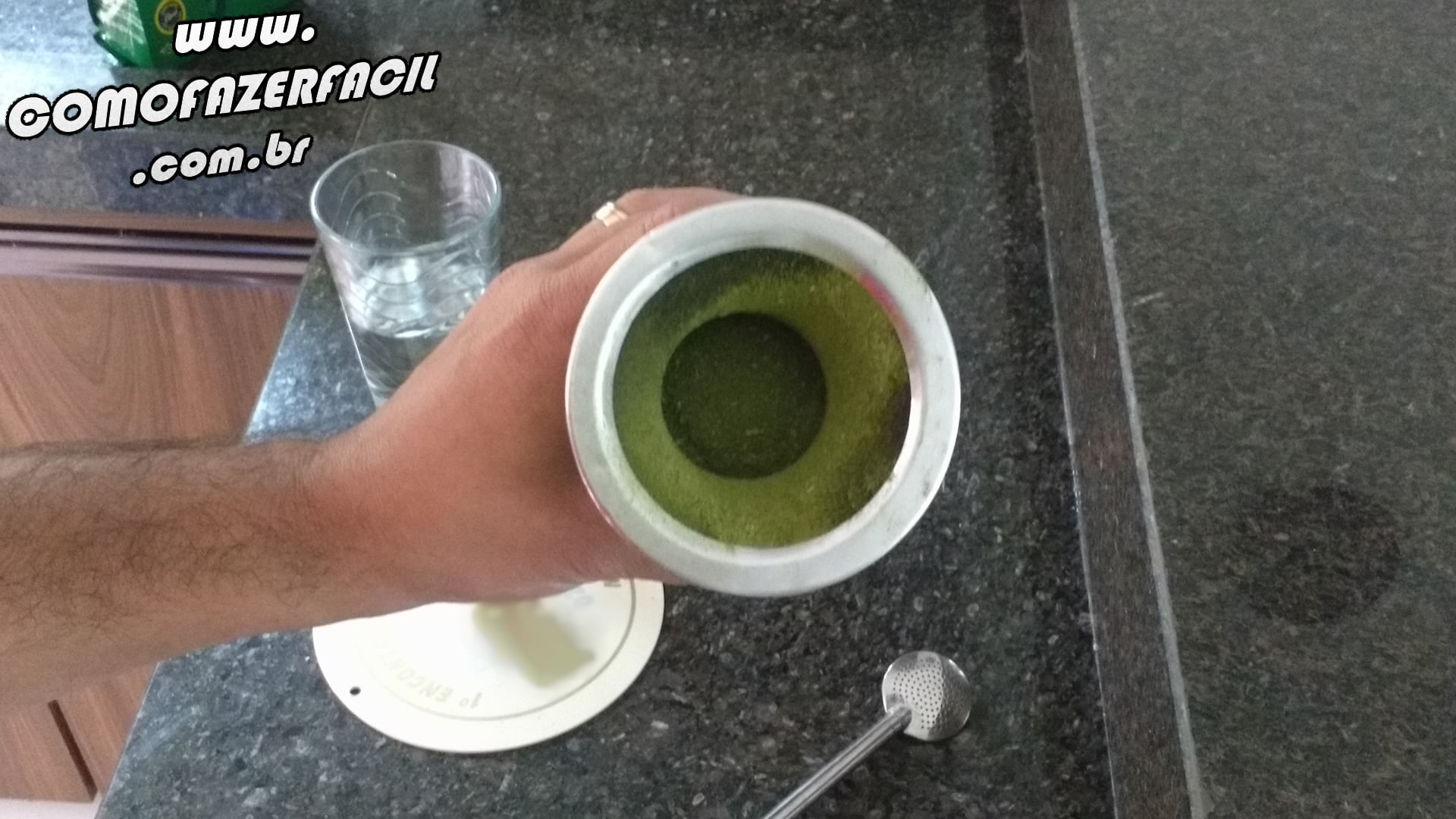 erva na cuia chimarrao como fazer