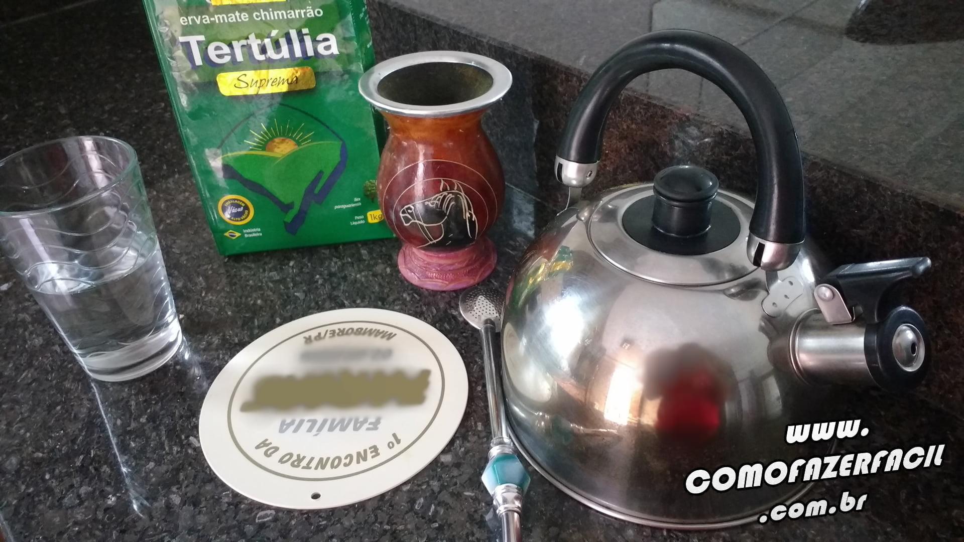 ingredientes materiais chimarrao como fazer