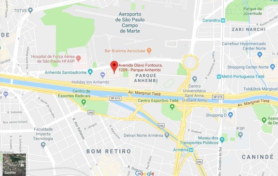 mapa como chegar carnaval 2019 sp