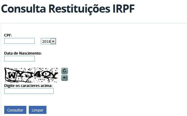 consulta online restituicoes irpf imposto renda