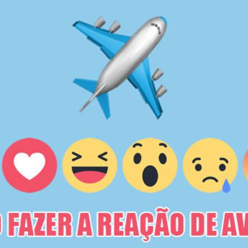 Como fazer para reagir no Facebook com avião