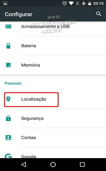 ativando localizacao configuracoes android