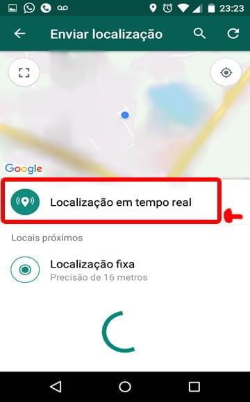 localizacao em tempo real whatsapp rastreio gps