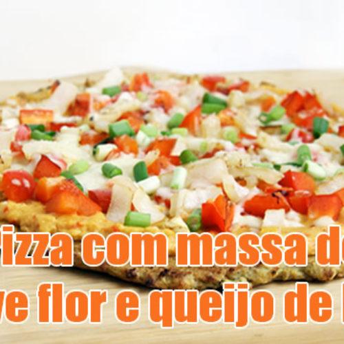 Como fazer pizza com massa de couve flor e queijo de kefir