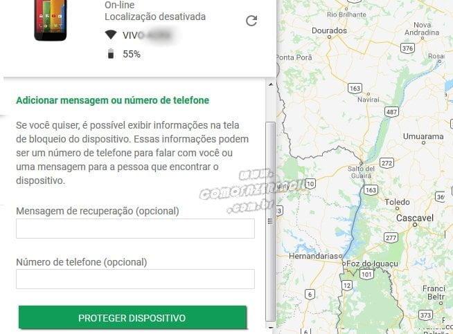 proteger celular roubado ou perdido pelo google