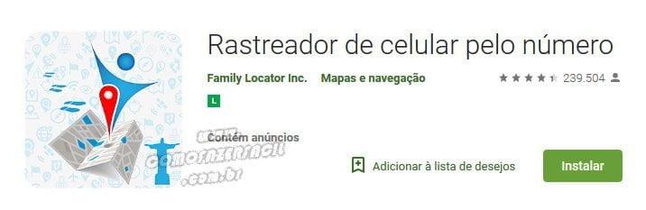 rastreador smartphone pelo numero app
