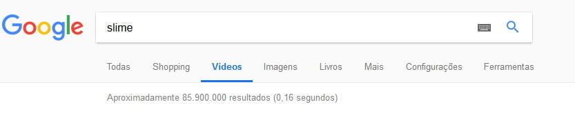 busca slime google youtube