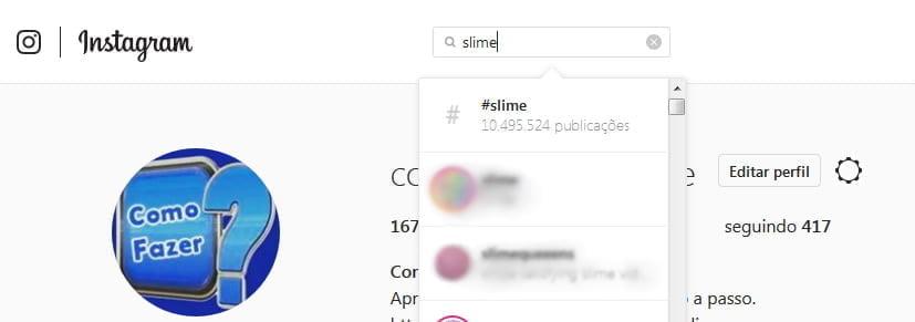 busca slime instagram