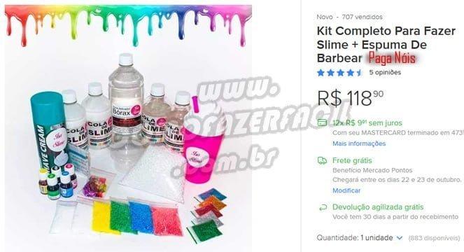 kit slime mercado livre