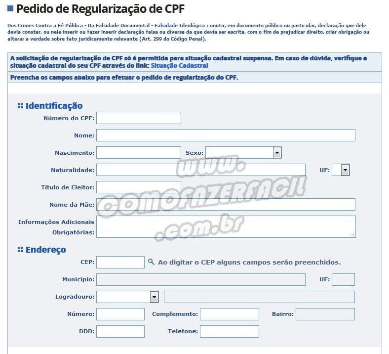 regularizacao cpf na receita federal