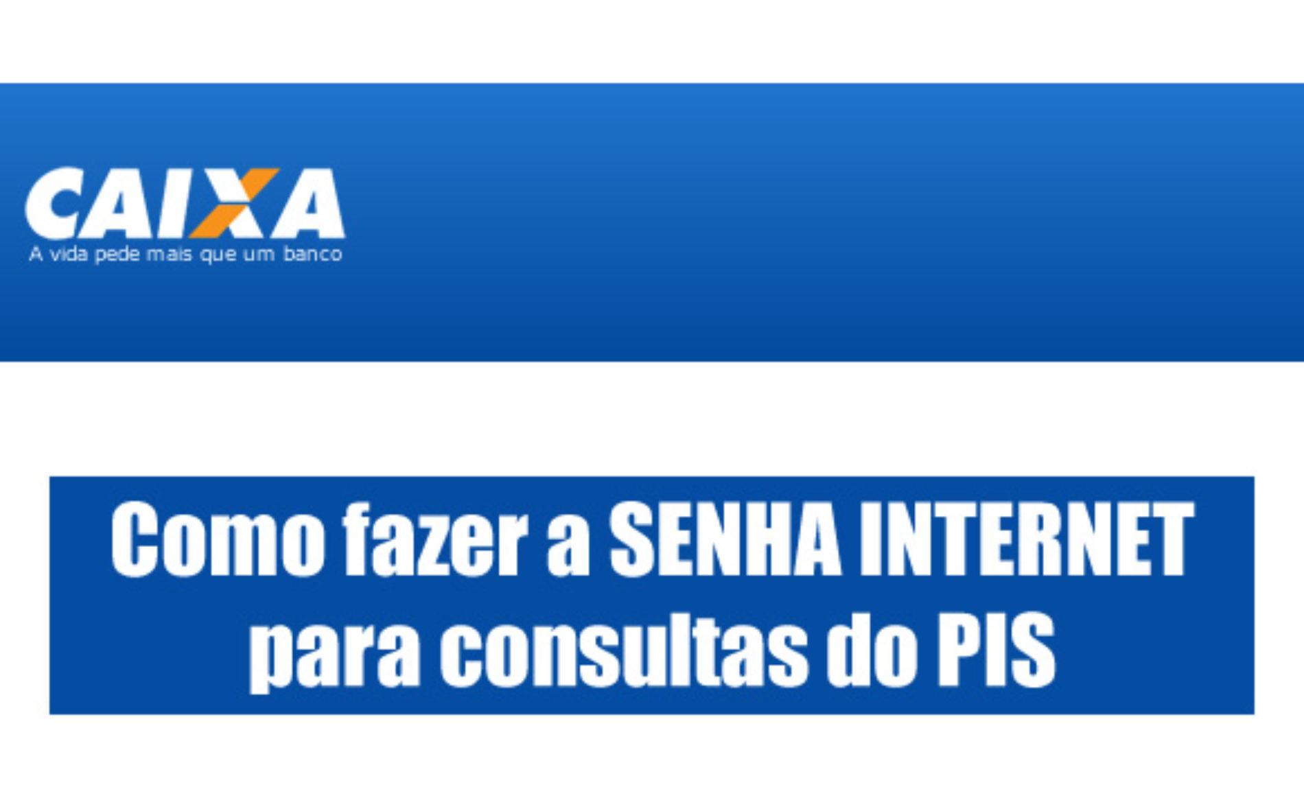 Como fazer a SENHA INTERNET para consultas do PIS online?