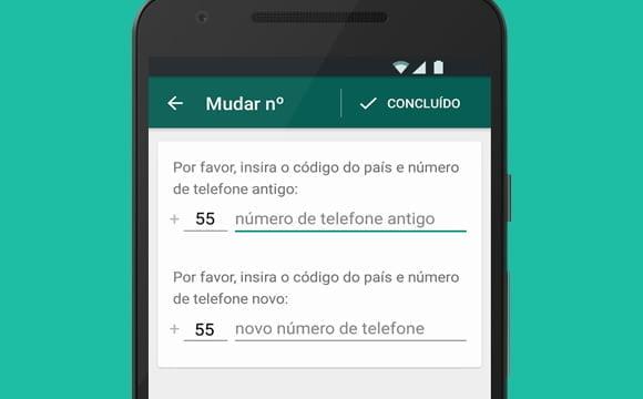 mudando numero conta whatsapp android