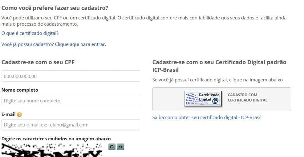 fazendo cadastro online certificado anvisa civp vacinacao