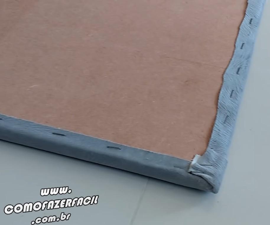moldura com tecido cabeceira