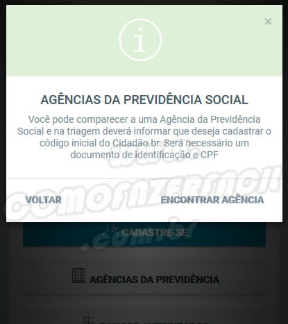 senha cidadao br agencias previdencia social