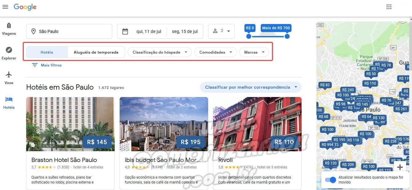 busca de hotel google flights black friday