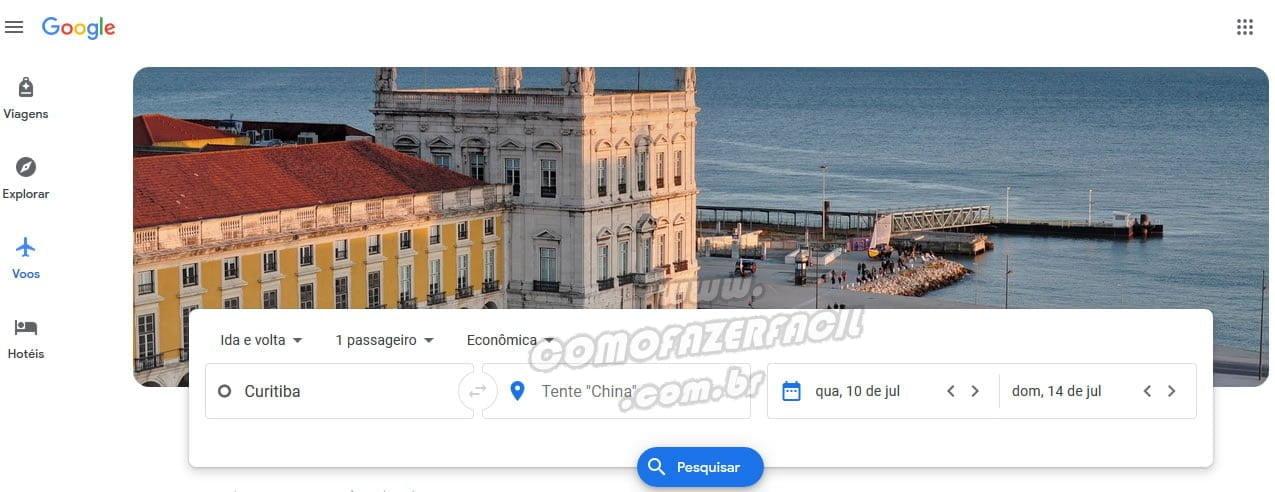 busca google flights