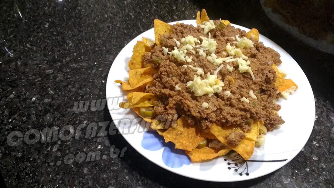 como fazer nachos doritos carne moida