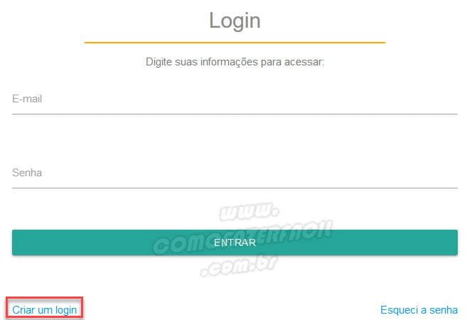 criar um login site nao me perturbe telemarketing
