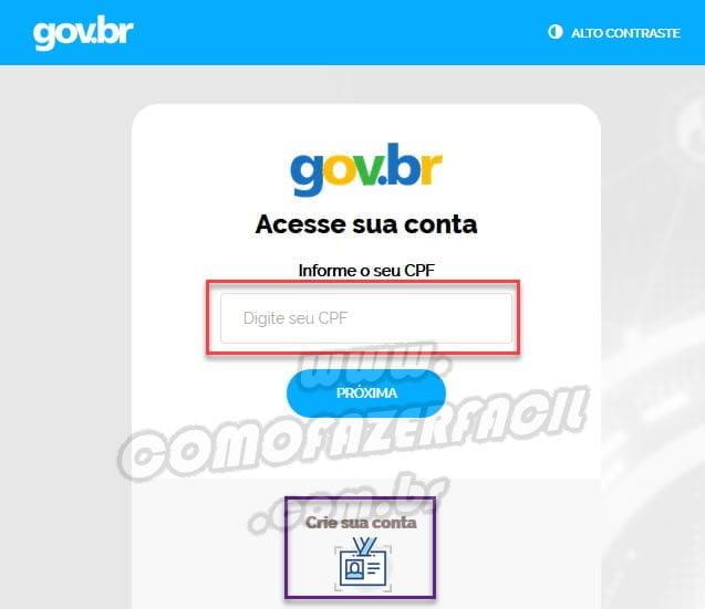 login gov br para acessar contracheque inss