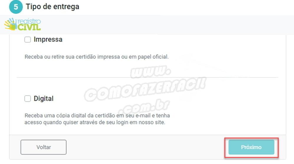 versao impressa e digital certidao nascimento registro civil