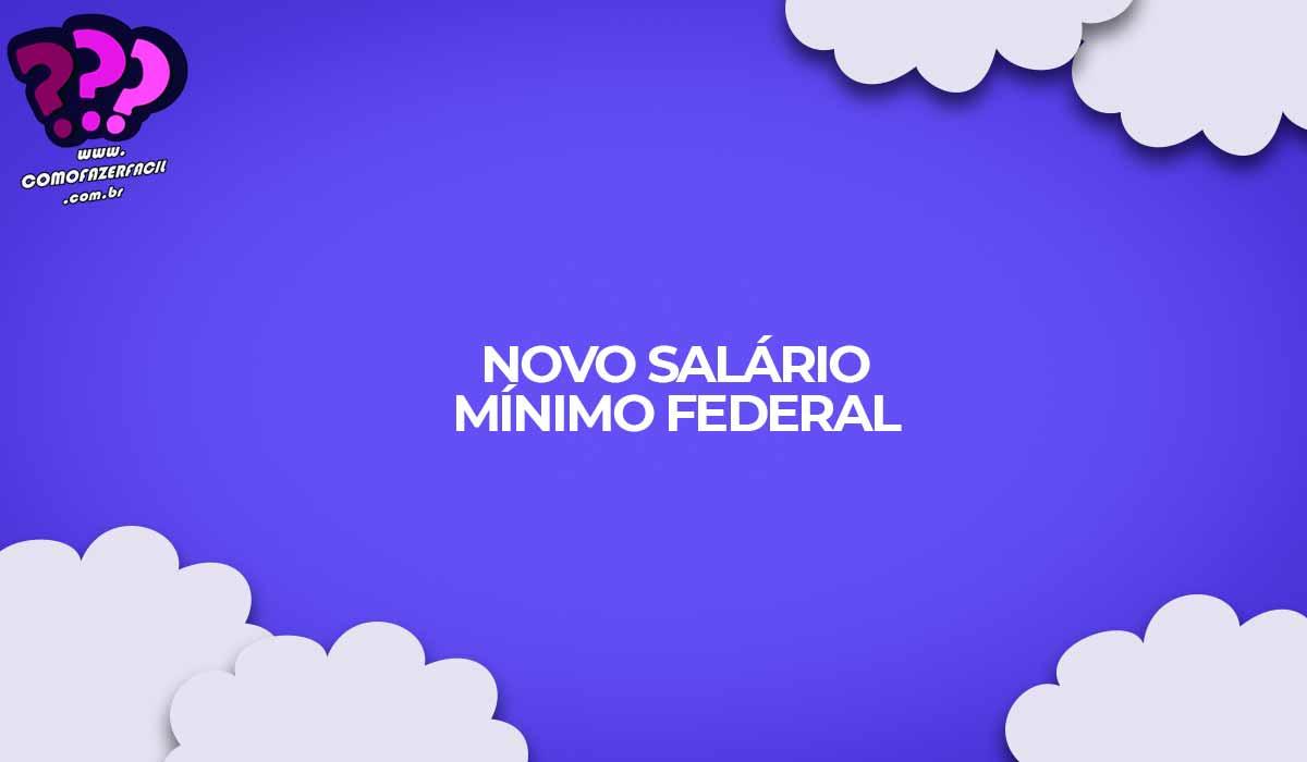novo salario minimo federal