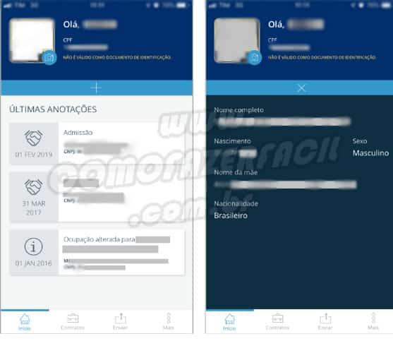 Carteira de trabalho digital. Como fazer a habilitação pelo aplicativo para celular smartphone Android e iOS.