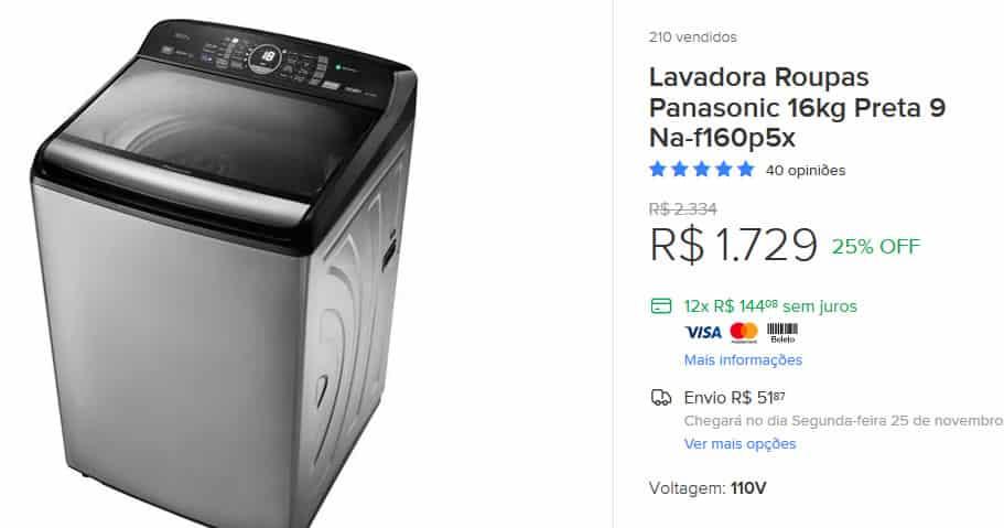 Maquinas de lavar e lavadoras promoção na black friday mercado livre.