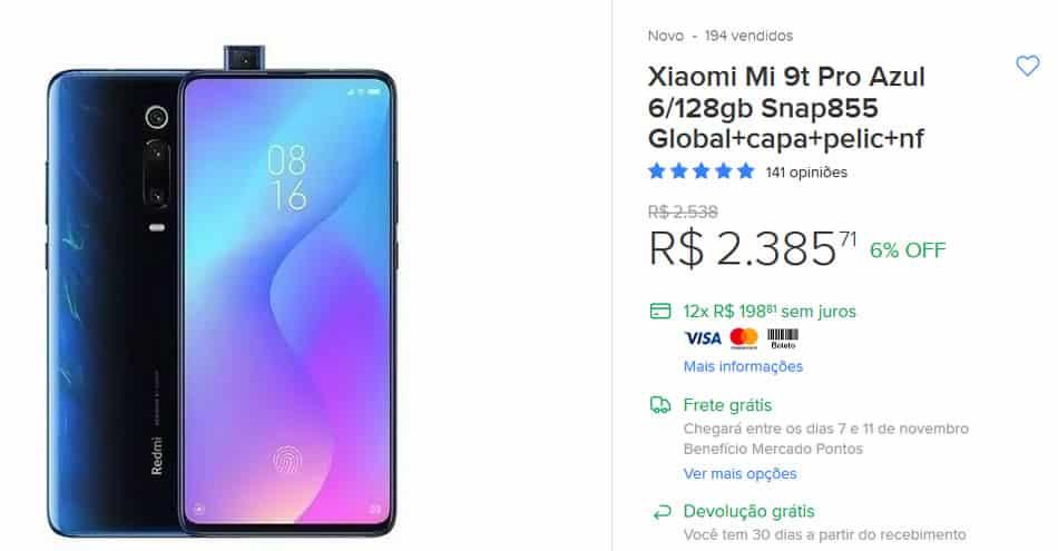 Xiaomi a venda na Black Friday.