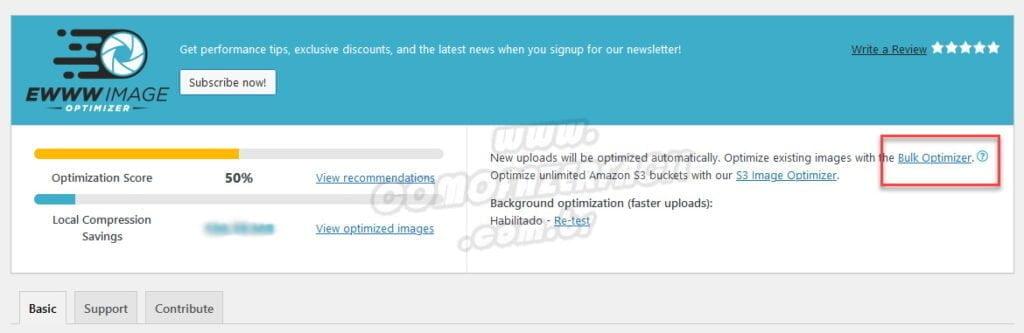 Otimizando imagens já existentes no seu site para WebP.