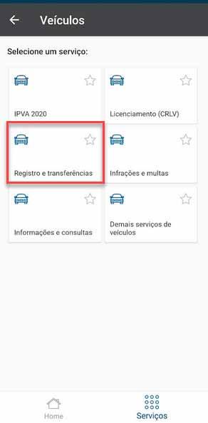 transferência de carro pela internet no poupatempo